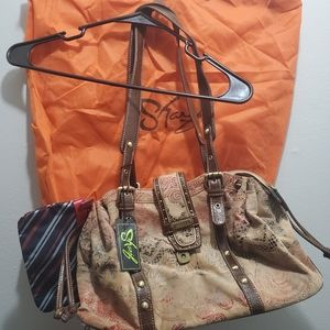 New Sharif Handbag purse with dust ruffle